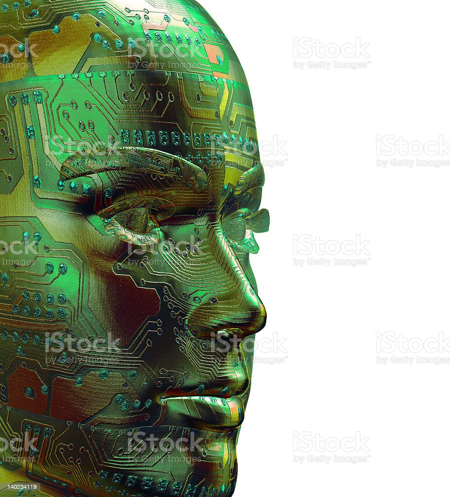 3D Digital Human royalty-free stock photo
