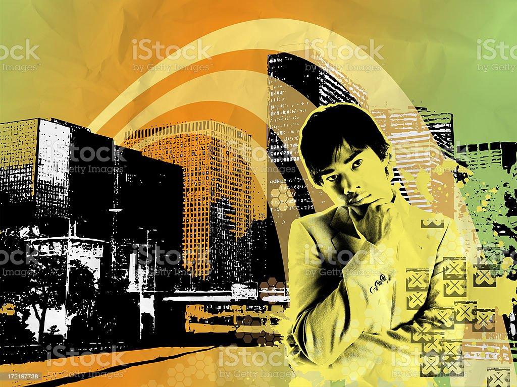 Digital Illustration - Modern business royalty-free stock photo