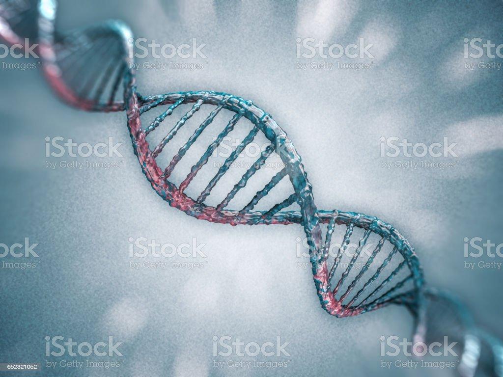 Digital illustration of a DNA model. 3D rendering stock photo