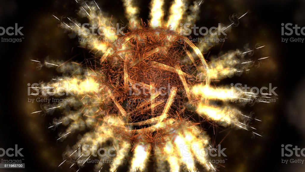 Digital Illustration of a mystic Fire stock photo