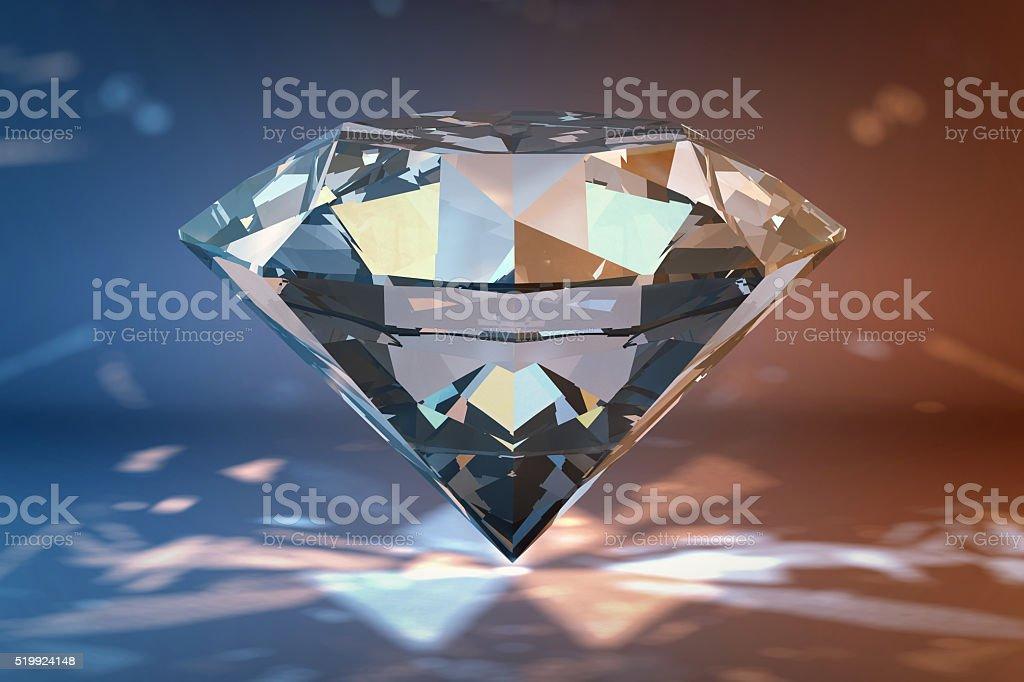 Digital illustration of big shining brilliant stock photo