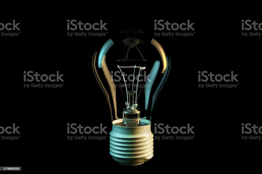 Digital illustration of electric bulb stock photo