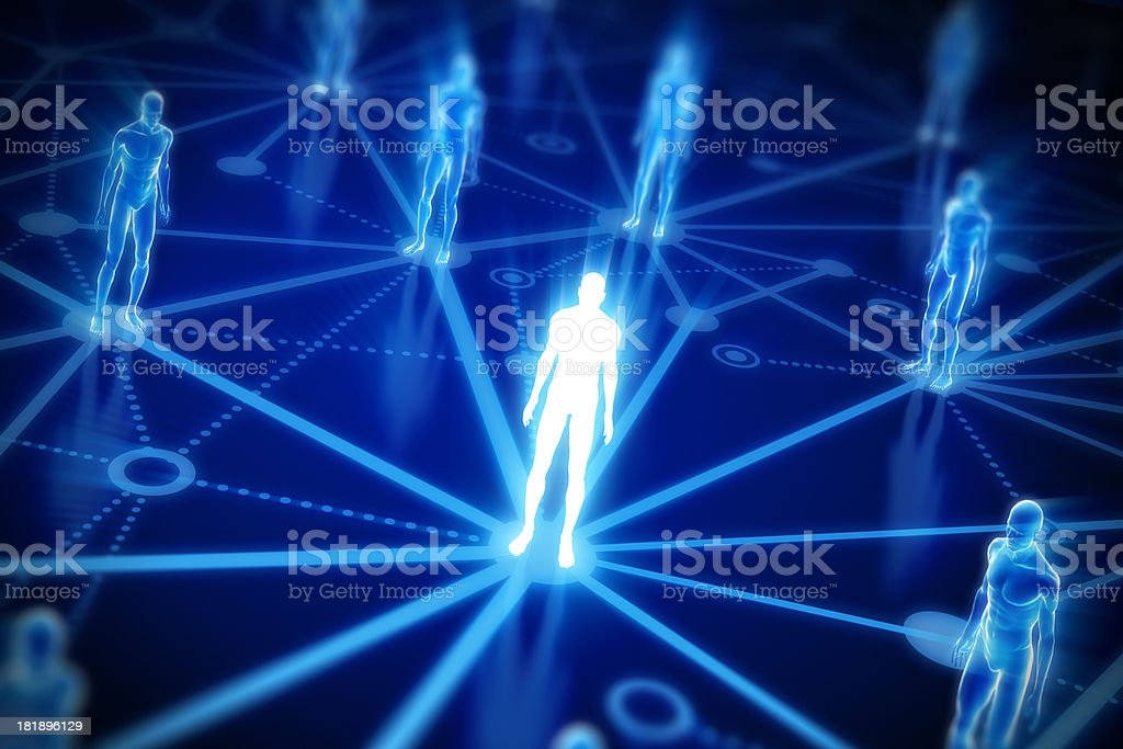 Digital image of people representing networking royalty-free stock photo