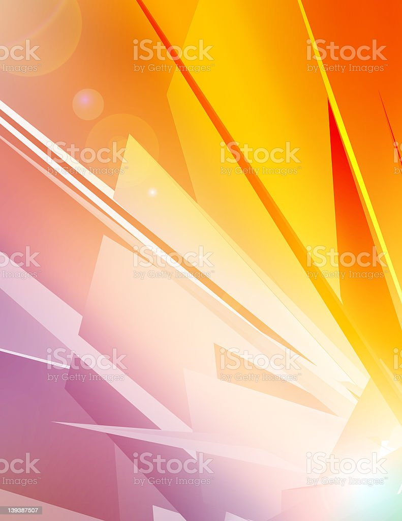 Digital image vector in purple and orange royalty-free stock photo