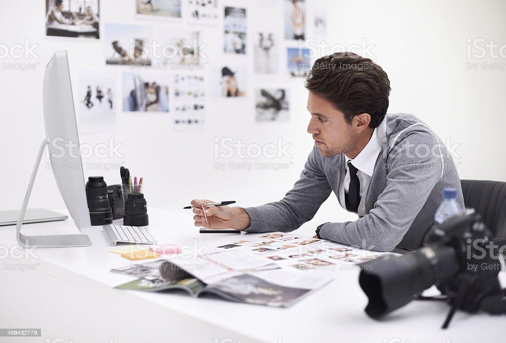 Digital imaging professional stock photo