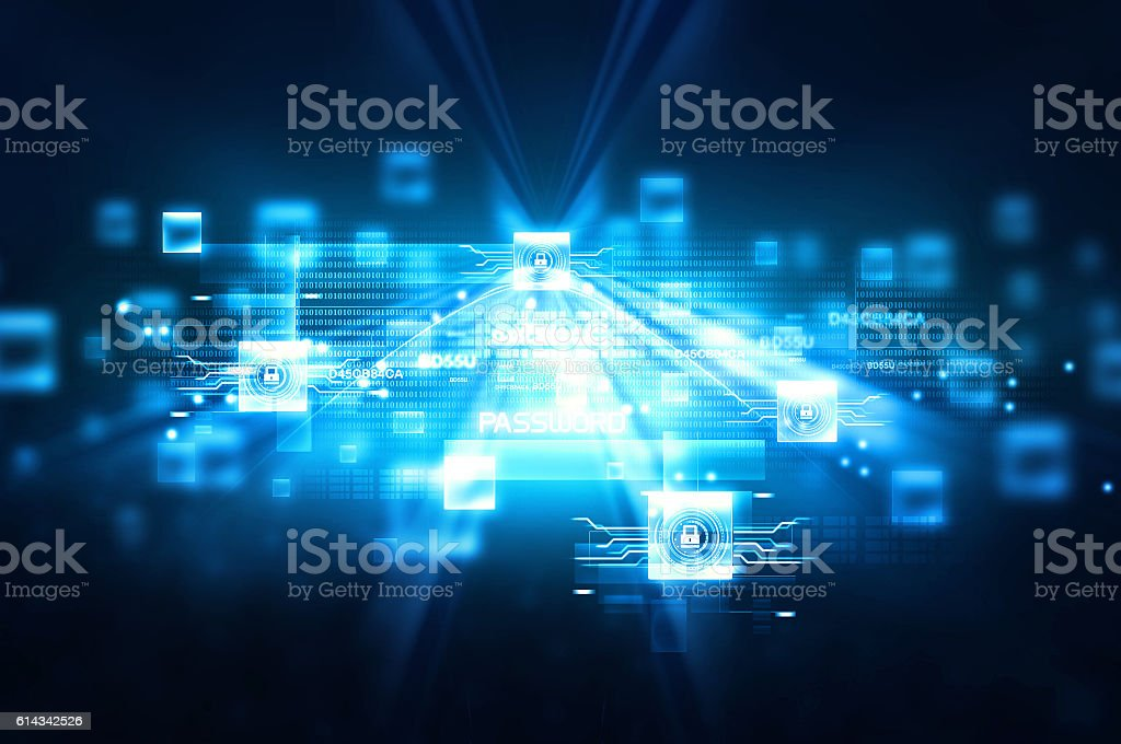 Digital Internet security stock photo