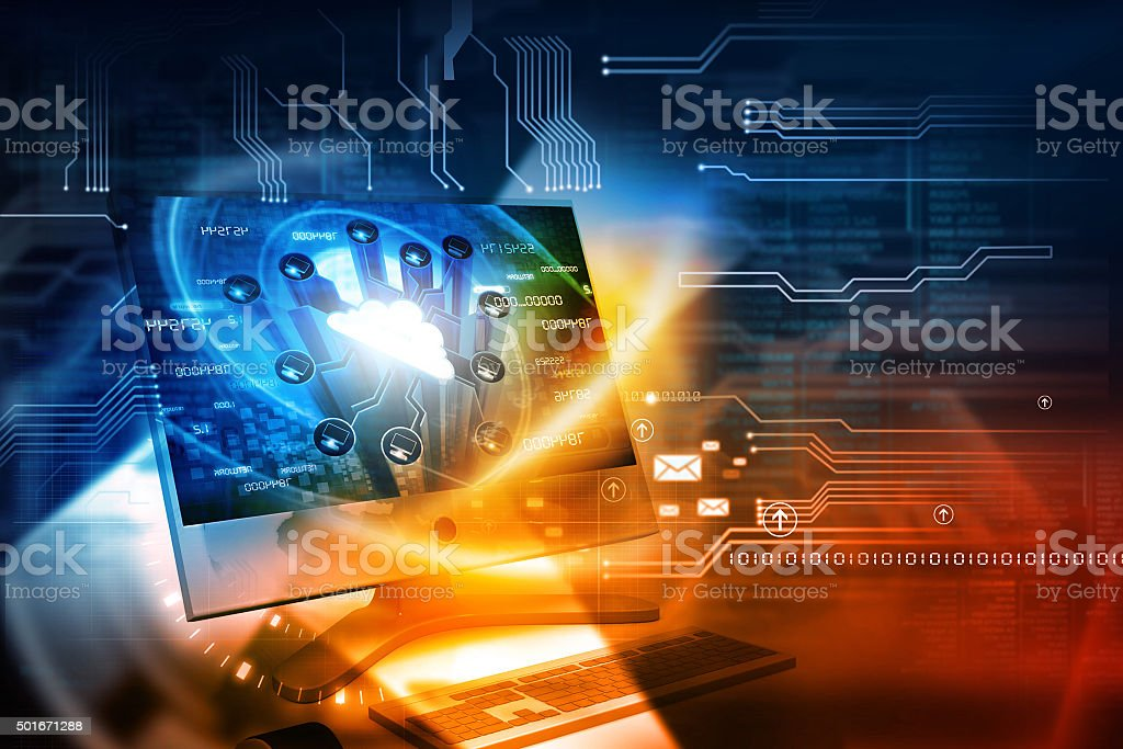 Digital internet technology stock photo