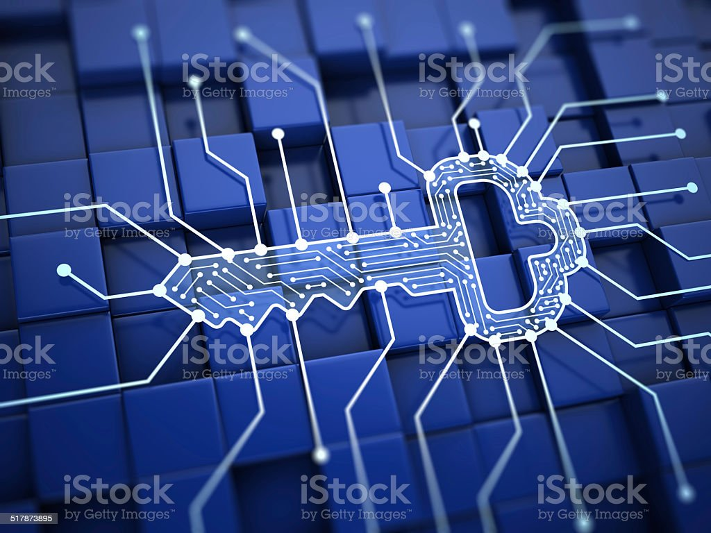 Digital key stock photo