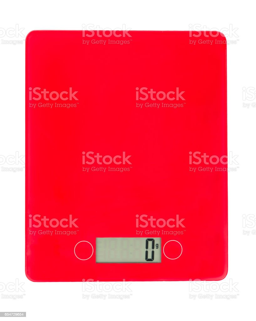 Digital kitchen scales stock photo