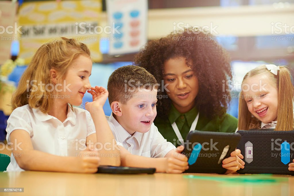 digital learning stock photo