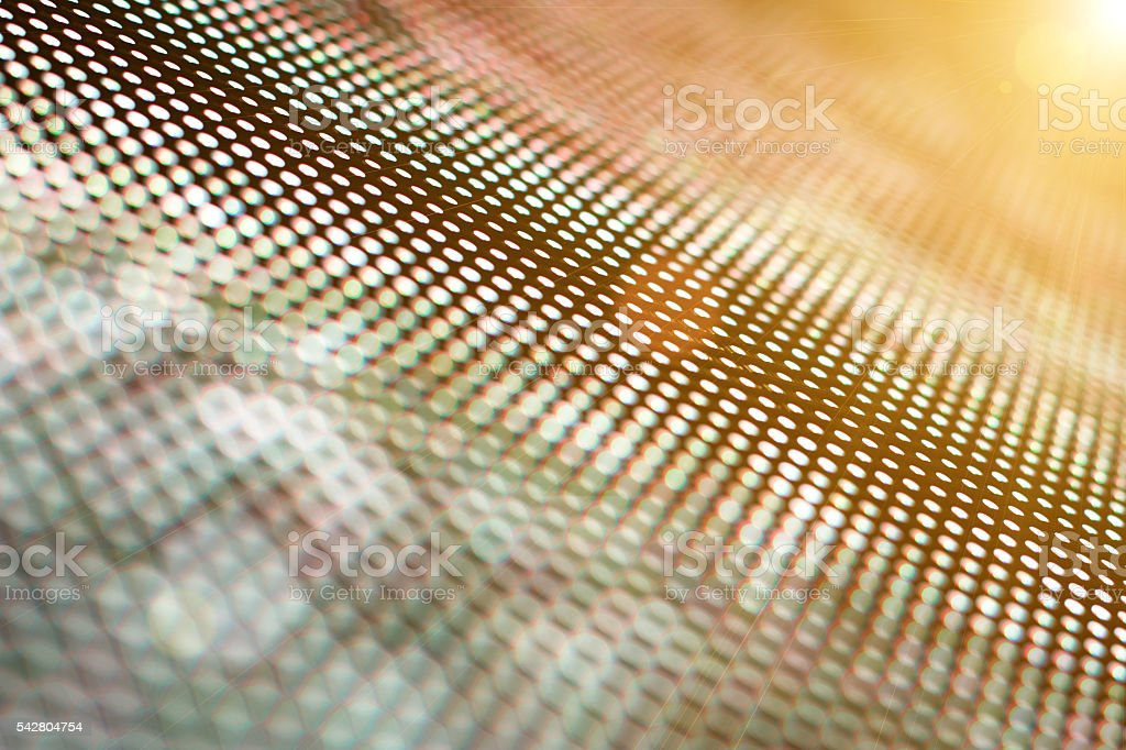 Digital LED screen stock photo