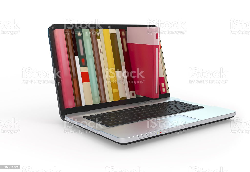 Digital library. stock photo