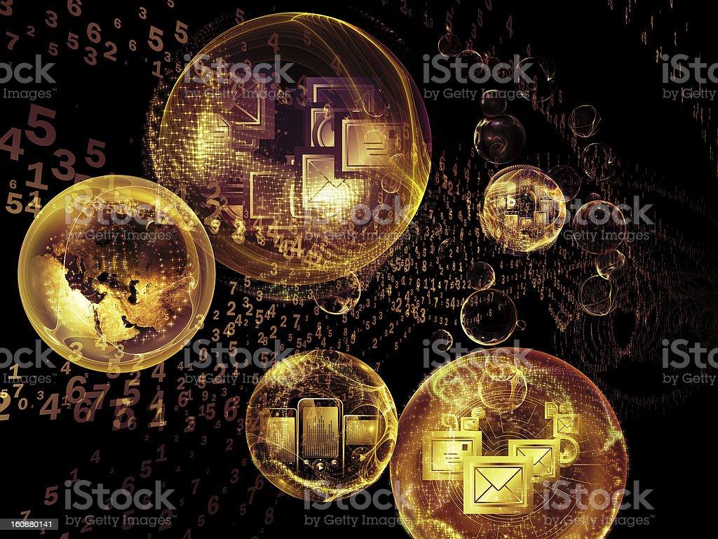 Digital Life of Information royalty-free stock photo