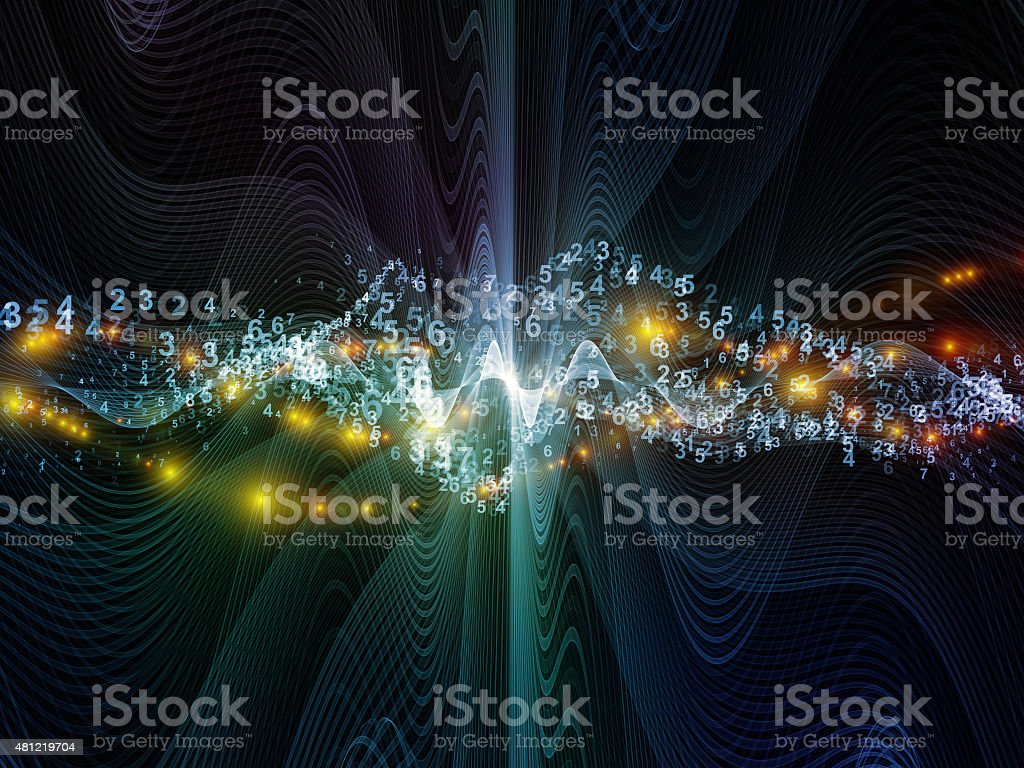 Digital Light Waves stock photo