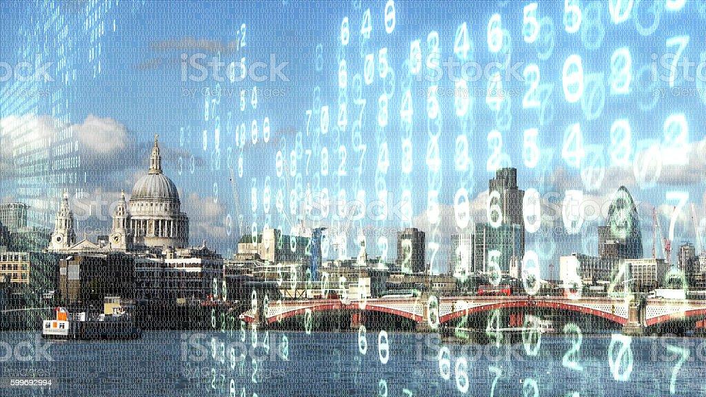 Digital London. stock photo