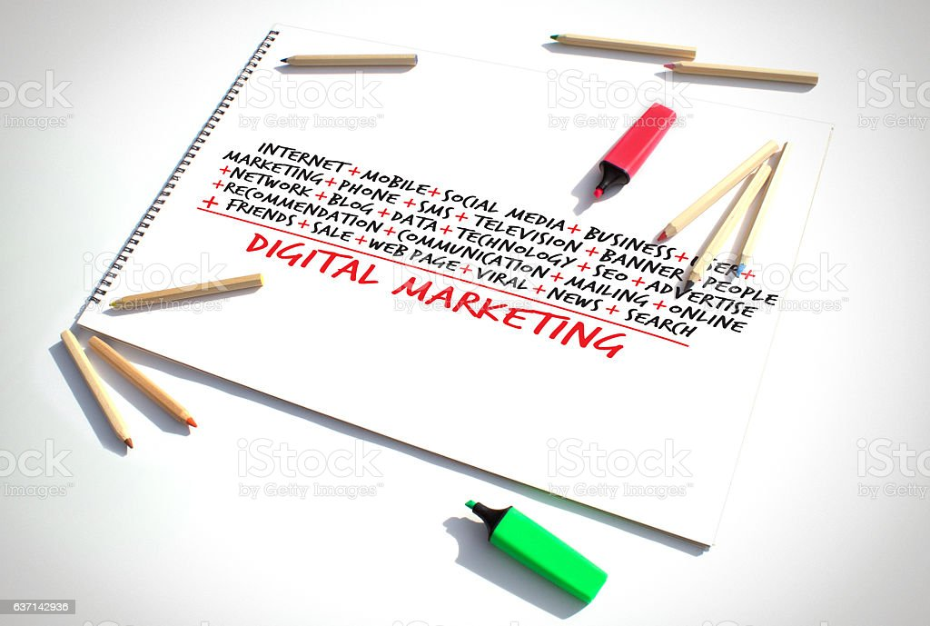 Digital Marketing Calculation stock photo