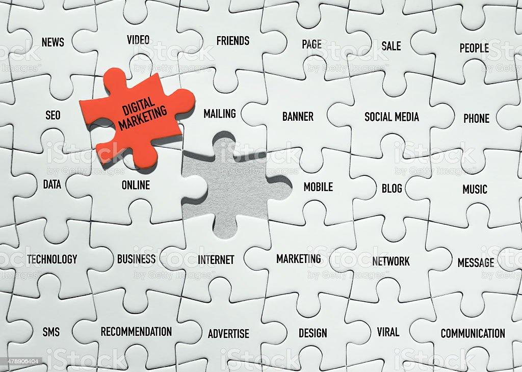 digital marketing Puzzles stock photo