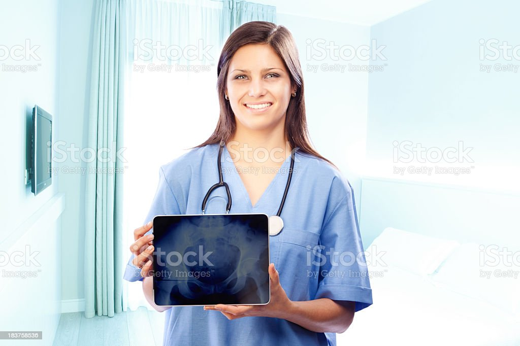 Digital medical scan royalty-free stock photo
