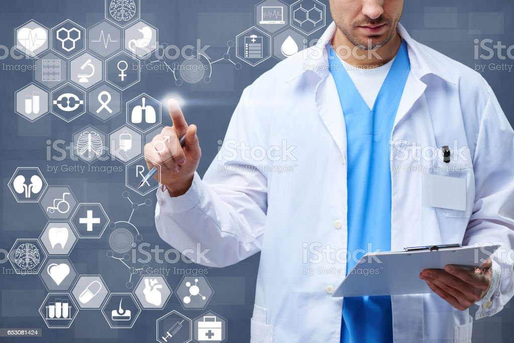 Digital medicine stock photo
