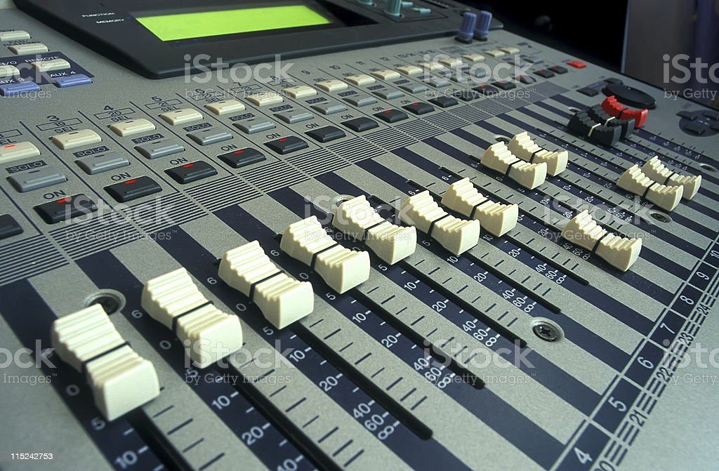 digital mixer desk in studio royalty-free stock photo