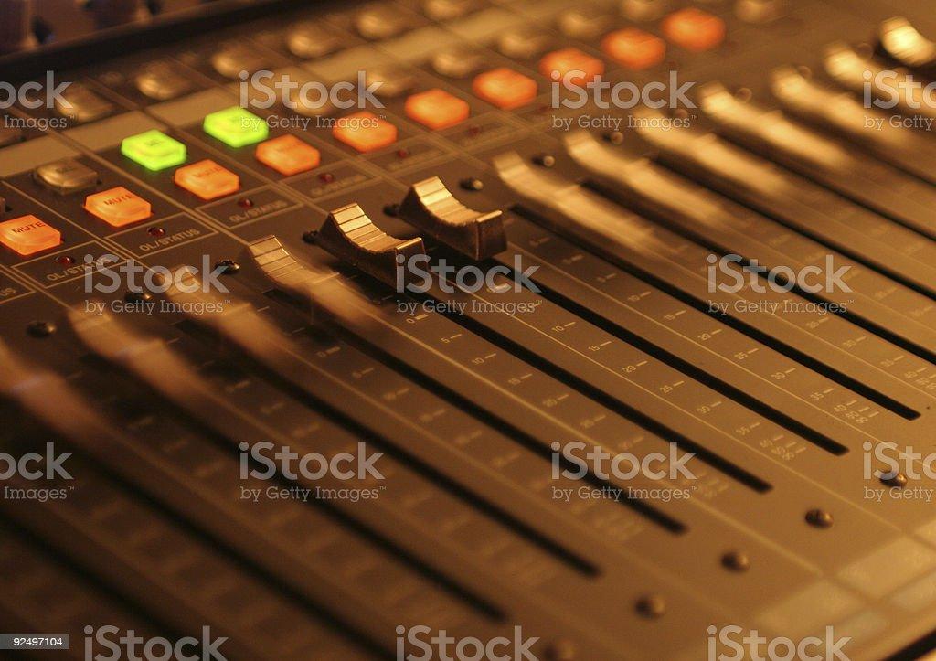 Digital Mixing Panel royalty-free stock photo