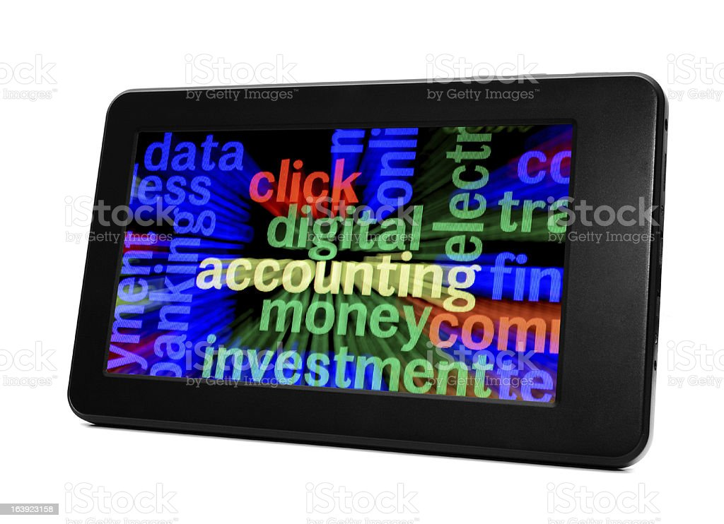 Digital money investment royalty-free stock photo