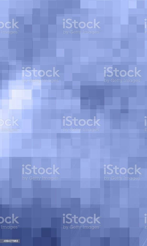 Digital Mosaic Blue Background stock photo