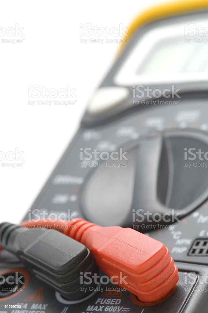 Digital multimeter close up royalty-free stock photo