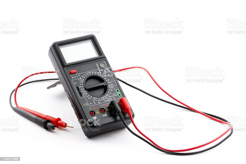 Digital multimeter, isolate on white royalty-free stock photo