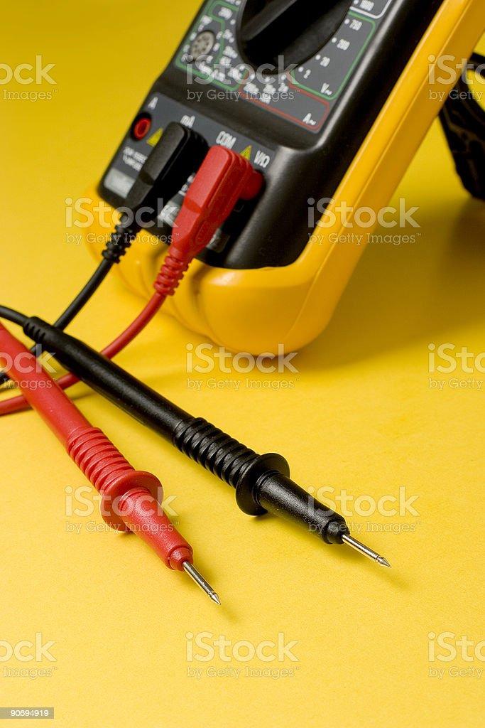 Digital multimeter probes stock photo
