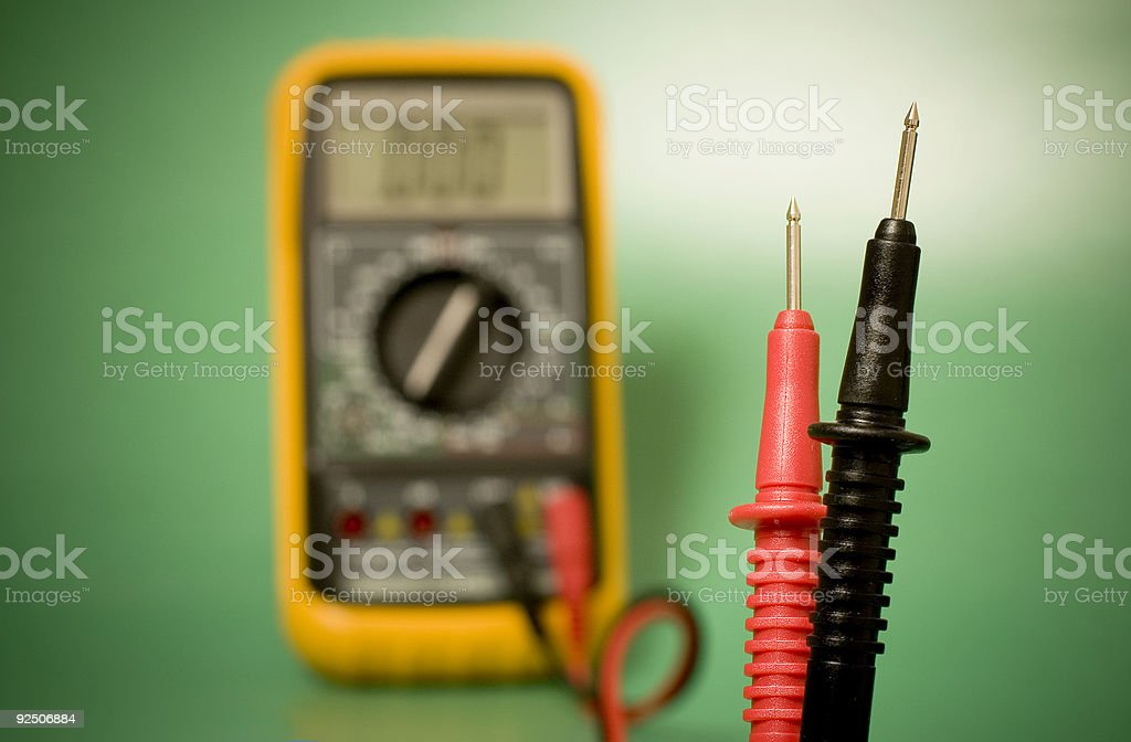 Digital multimeter probes royalty-free stock photo