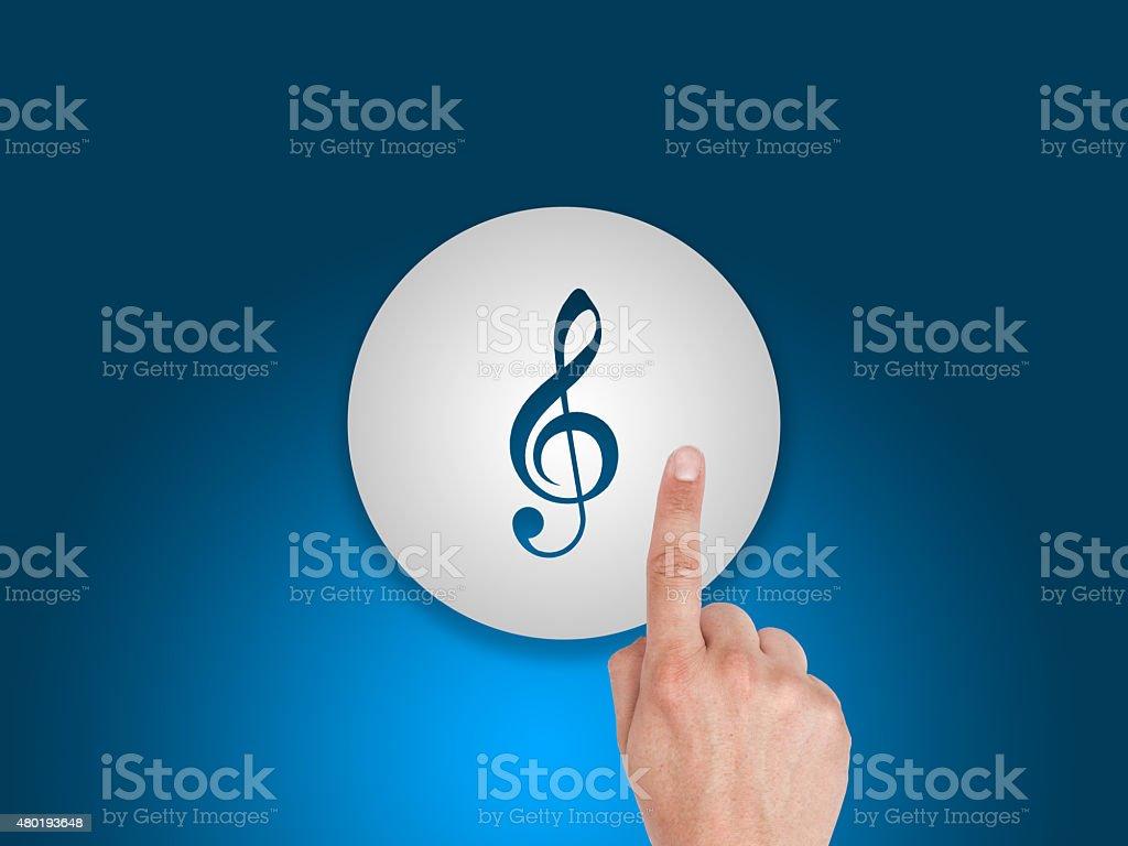 Digital Music Button stock photo