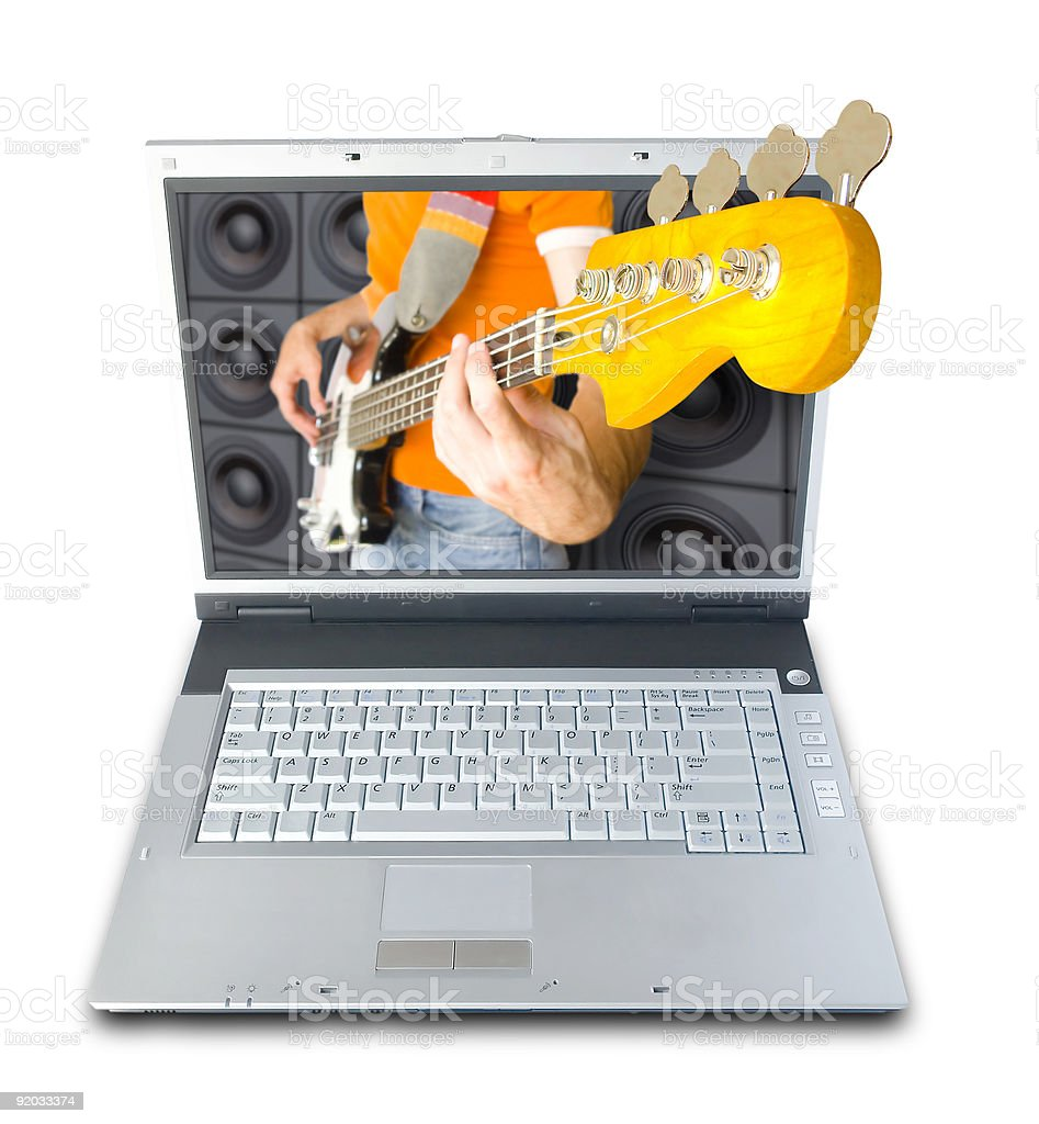 Digital Music (+clipping path) royalty-free stock photo