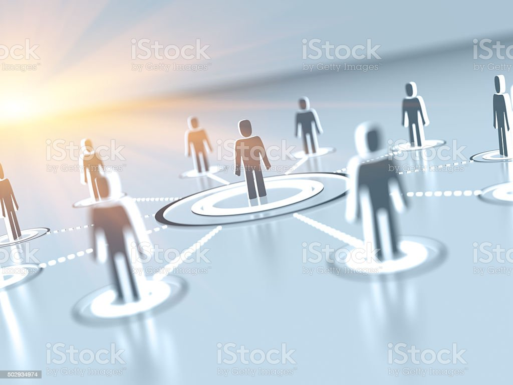 Digital network communication stock photo