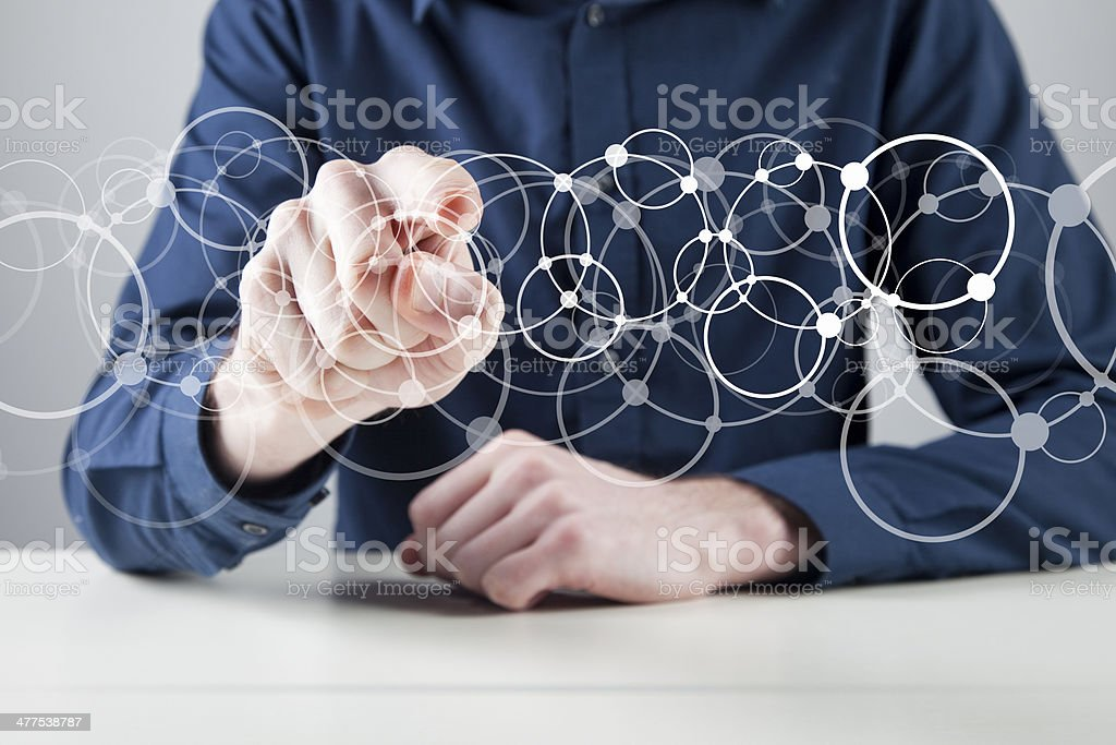 Digital network stock photo