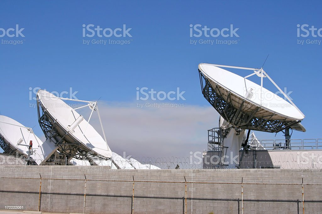Digital News Satellite Dish High Definition Television Cable  Radar royalty-free stock photo