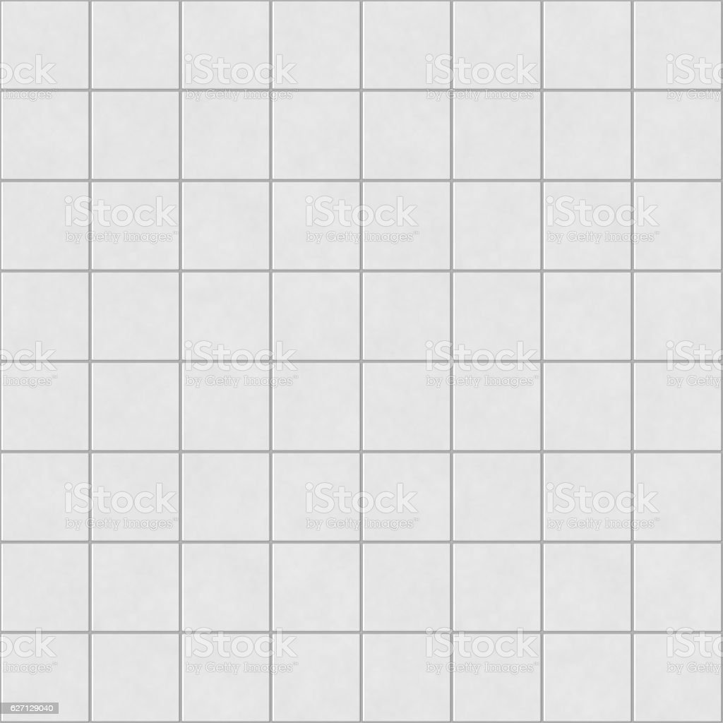 Digital non-realistic seamless white tile pattern stock photo