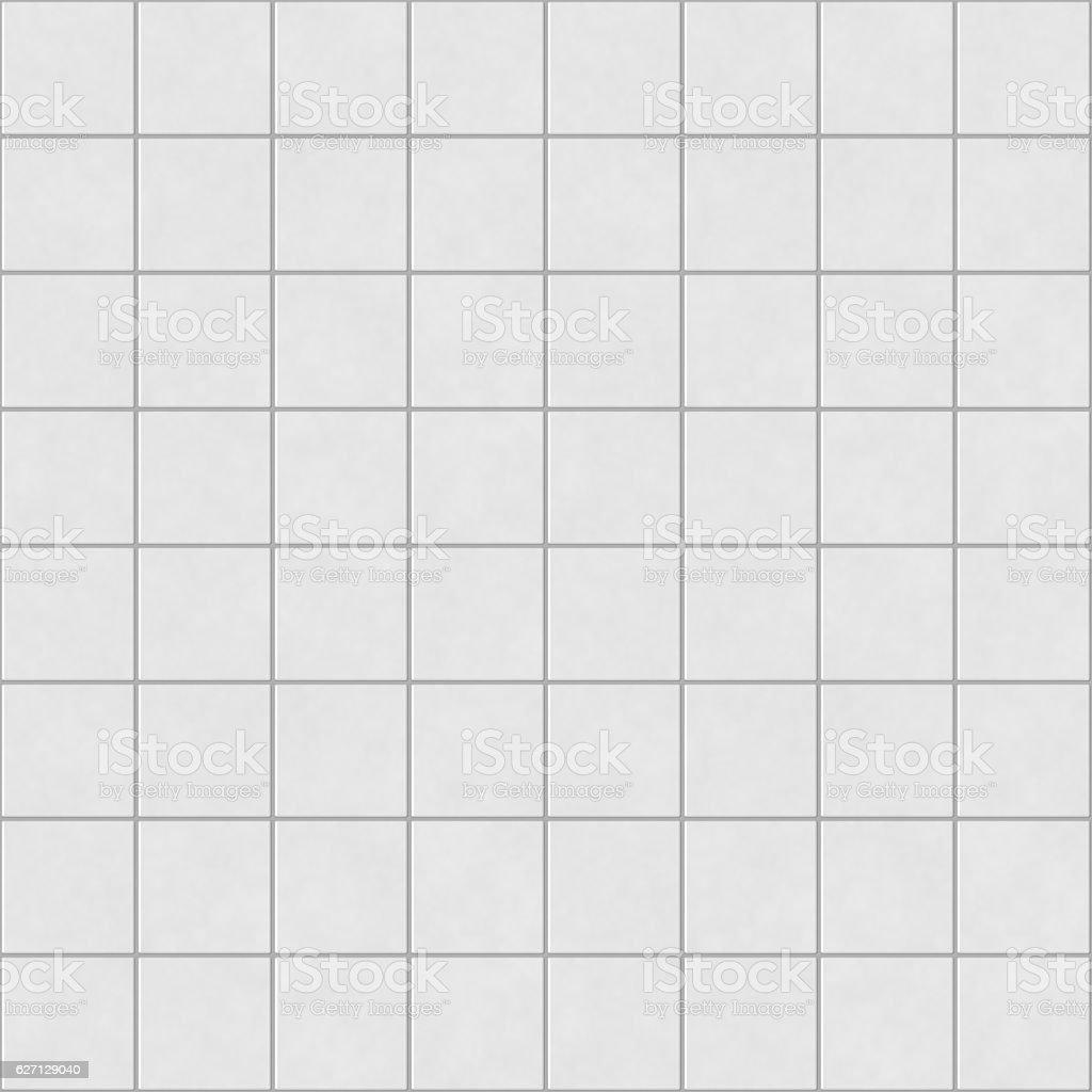Digital non-realistic seamless white tile pattern stock photo
