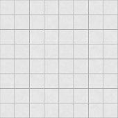 Digital non-realistic seamless white tile pattern