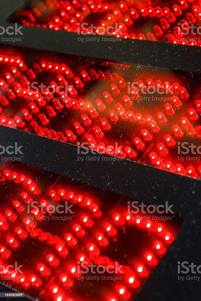 Digital number display stock photo