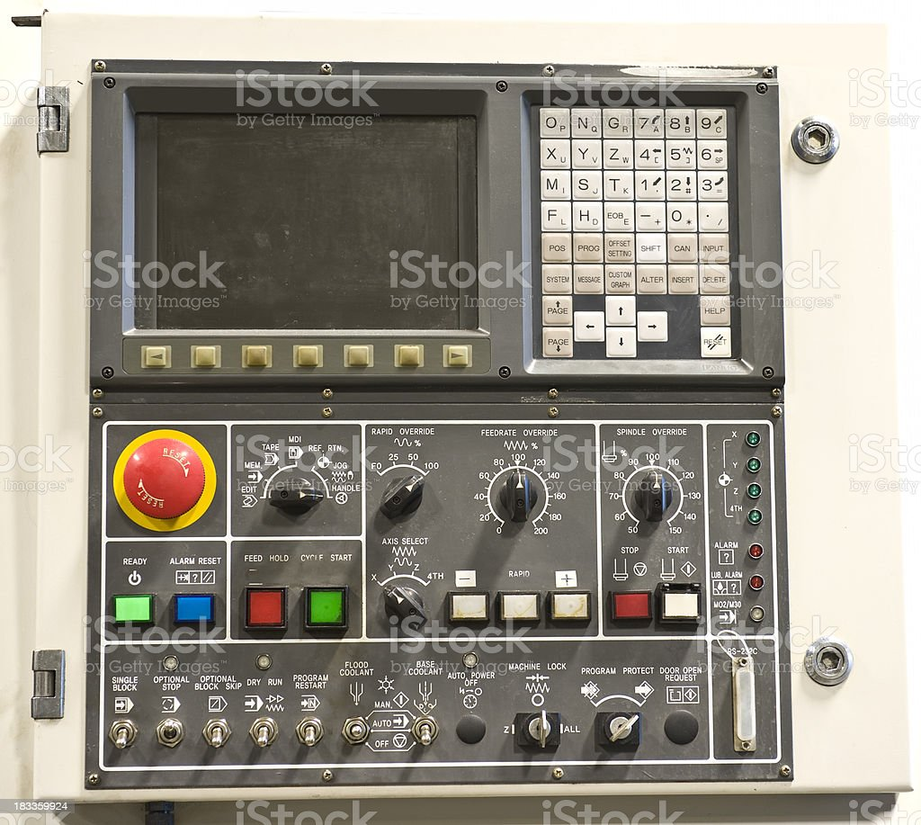 digital panel console, panneau digitale dash royalty-free stock photo