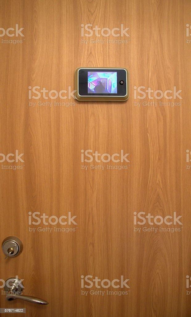digital peep-hole stock photo