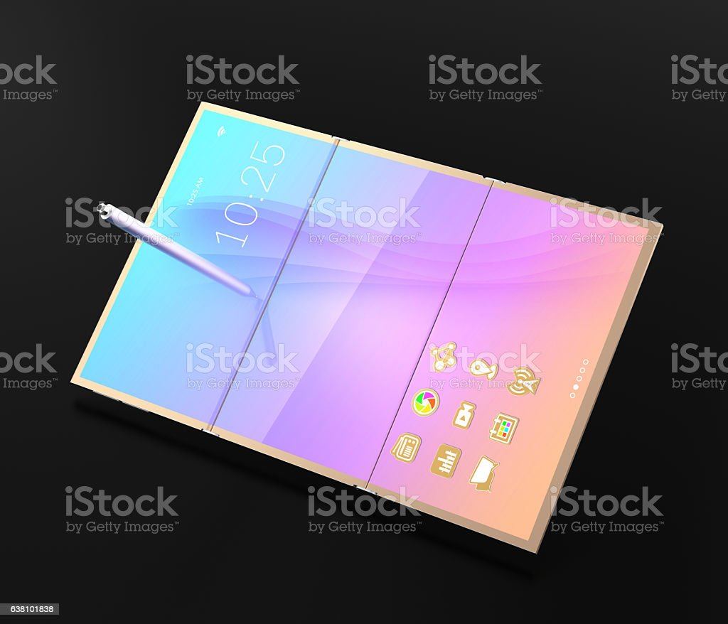 Digital pen and tablet PC stock photo