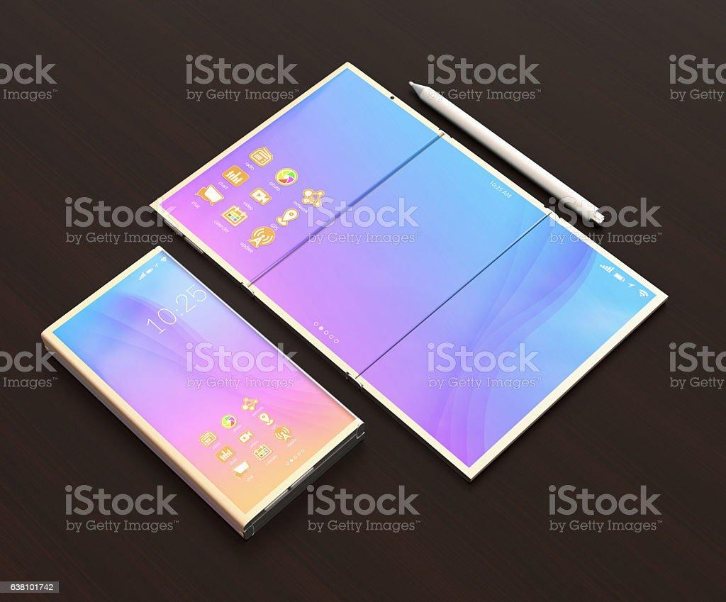 Digital pen, smart phone, tablet PC stock photo