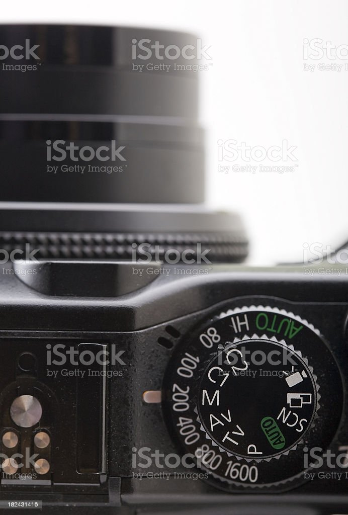 Digital photo camera controls panel stock photo