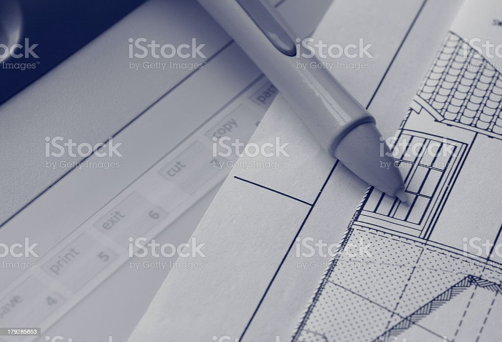 Digital Planning royalty-free stock photo