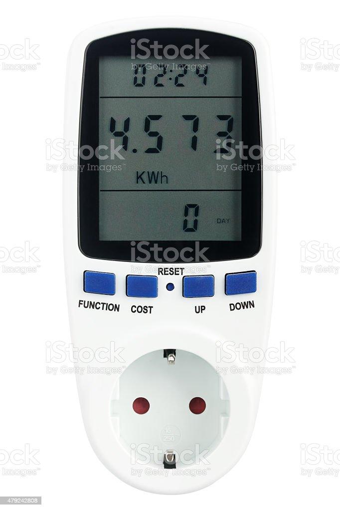 Digital portable power meter stock photo