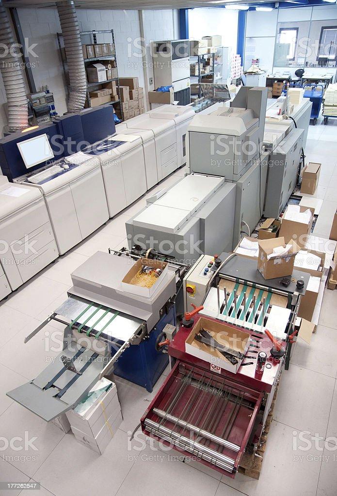 Digital press printing machine stock photo