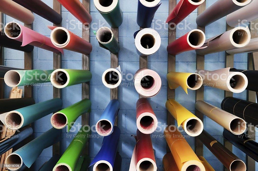 Digital printing - adhesive paper stock photo