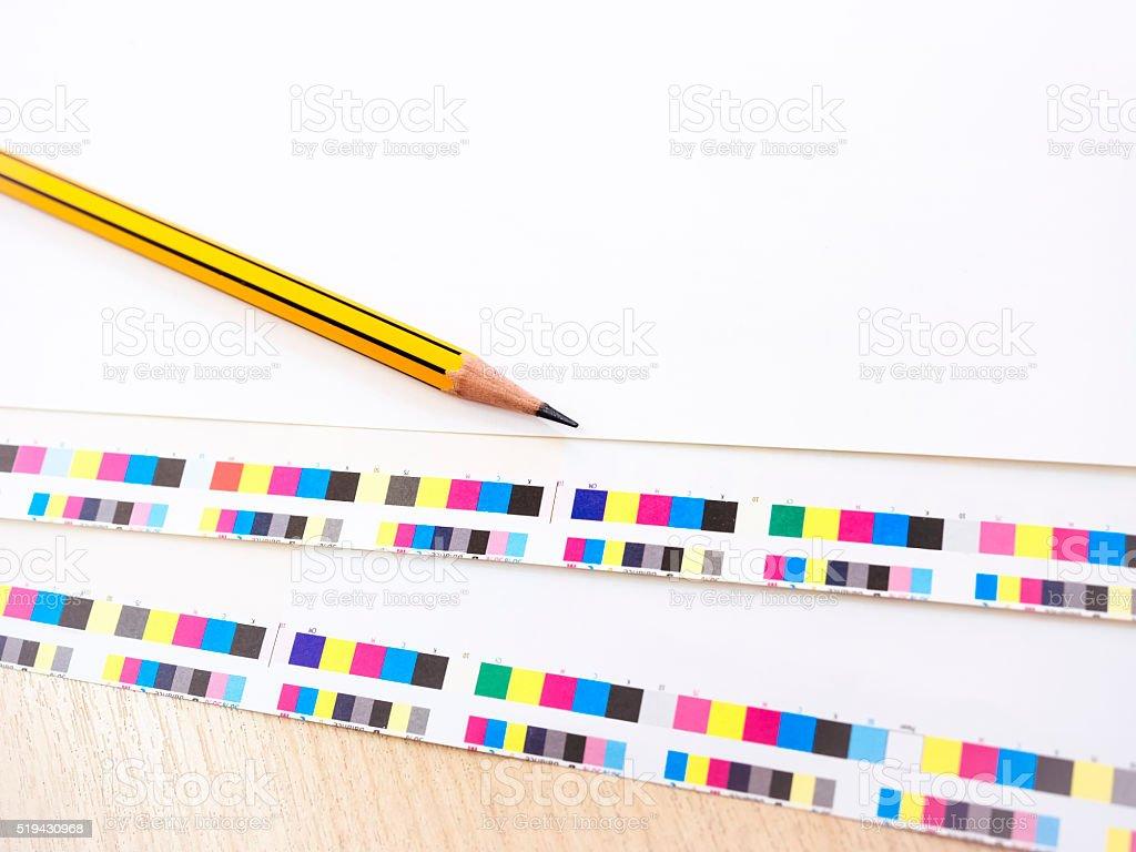 Digital Printing PressOffset Industry work process Background stock photo